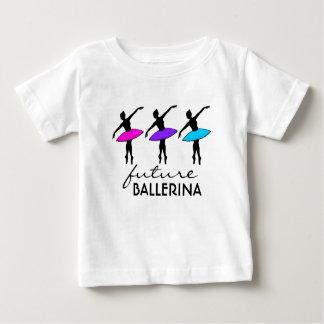 Camiseta Para Bebê Dançarino de néon da dança do balé do tutu da