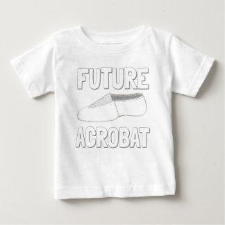 Camiseta Para Bebê Dançarino FUTURO do Gymnast dos calçados da dança