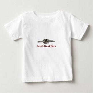 Camiseta Para Bebê De Dave do nó SHORT aqui - Multi-Produtos