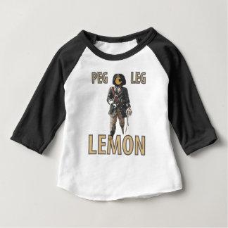 """Camiseta Para Bebê De """"limão do pé Peg"""" do pirata"""