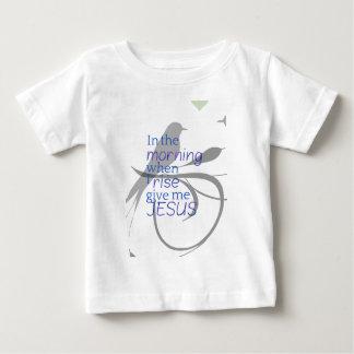 Camiseta Para Bebê Dê-me o elogio de Jesus e o design do culto