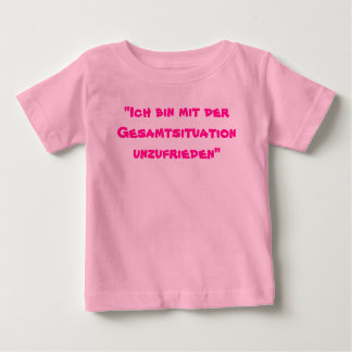 """Camiseta Para Bebê De """"o der Gesamtsituation do mit da caixa Ich"""