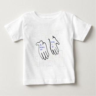 Camiseta Para Bebê Dê o deus o que é direito não o que é deixado