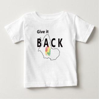 Camiseta Para Bebê Dê-o para trás (a identidade)