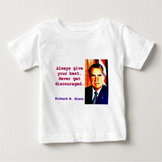 Camiseta Para Bebê Dê sempre seu melhor - Richard Nixon