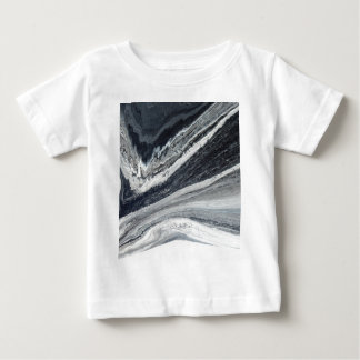 Camiseta Para Bebê De tinta preta