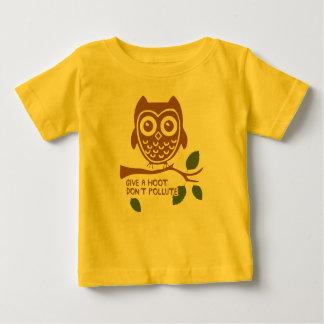 Camiseta Para Bebê Dê uma buzina - não polua