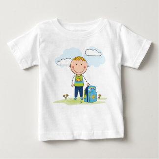 Camiseta Para Bebê De volta ao menino de escola