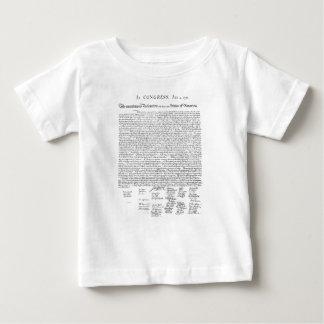 Camiseta Para Bebê Declaração de independência