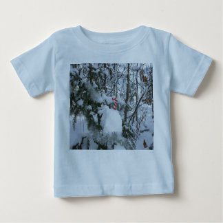 Camiseta Para Bebê Decoração exterior do Natal do bastão de doces
