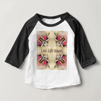 Camiseta Para Bebê Decoração simples da casa do estilo de vida do