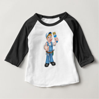 Camiseta Para Bebê Decorador do pintor do trabalhador manual que