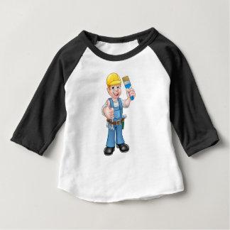 Camiseta Para Bebê Decorador do pintor que guardara o pincel