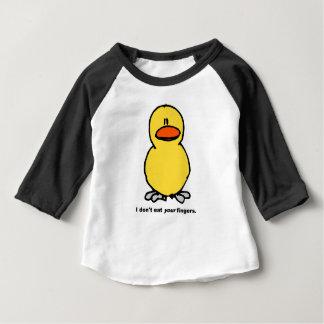 Camiseta Para Bebê Dedos da galinha - eu não como seus dedos