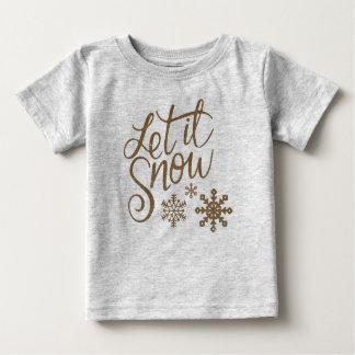 Camiseta Para Bebê Deixais lhe para nevar