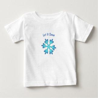 Camiseta Para Bebê Deixais lhe para nevar com os flocos de neve 3D