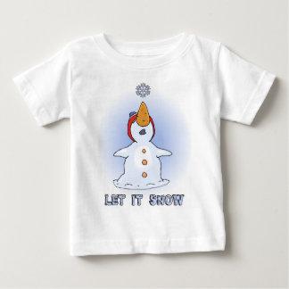 Camiseta Para Bebê Deixais lhe para nevar t-shirt