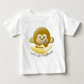 Camiseta Para Bebê Deixe-nos ir bananas!