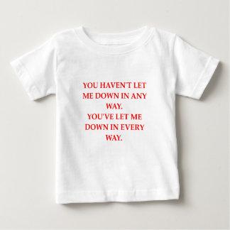 Camiseta Para Bebê deixe para baixo