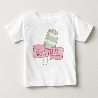 Camiseta Para Bebê Deleite doce do bar do sorvete
