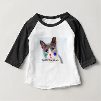 """Camiseta Para Bebê """"Demasiado quente para gato das palavras"""" com"""