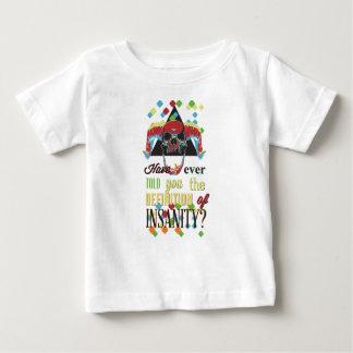 Camiseta Para Bebê demência e crânio assustador