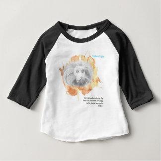 Camiseta Para Bebê Demónio dourado do macaco - seus materiais escuros