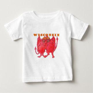 Camiseta Para Bebê Demónios de Wisconsin Cheesehead