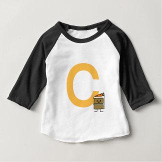 Camiseta Para Bebê Dentes do coelho da fatia do bolo de cenoura que