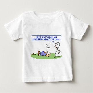 Camiseta Para Bebê descoberta da gravidade do senhor Isaac Newton da