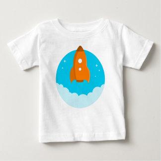 Camiseta Para Bebê Descolagem do navio de Rocket