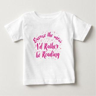 Camiseta Para Bebê desculpe a confusão que eu preferencialmente
