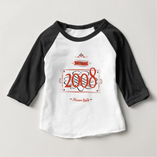 Camiseta Para Bebê Desde 2008 (Red&Black)