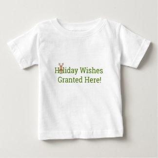 Camiseta Para Bebê Desejos do feriado concedidos aqui!