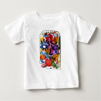 Camiseta Para Bebê Desenho abstrato de Digitas da cara da modificação