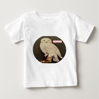Camiseta Para Bebê desenho branco da coruja