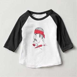 Camiseta Para Bebê Desenho cor-de-rosa da malagueta picante mexicana