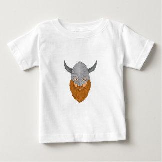 Camiseta Para Bebê Desenho da cabeça do guerreiro de Viking
