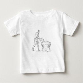 Camiseta Para Bebê Desenho da fundição do Candlemaker do vintage