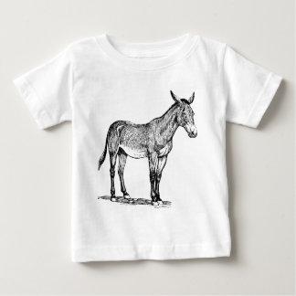 Camiseta Para Bebê Desenho da mula, teimoso