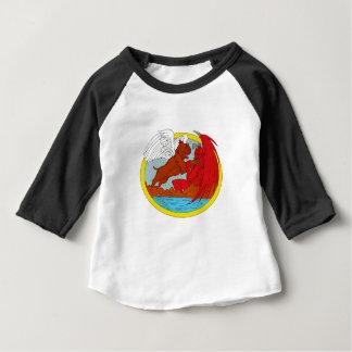 Camiseta Para Bebê Desenho de combate da satã do cão americano da