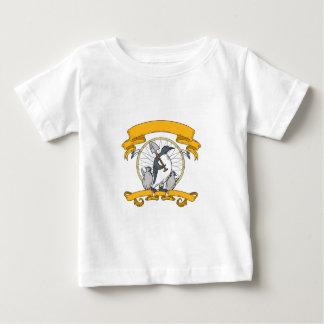Camiseta Para Bebê Desenho de Dreamcatcher do pintinho da pá do