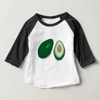 Camiseta Para Bebê Desenho do abacate