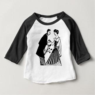 Camiseta Para Bebê Desenho do casal