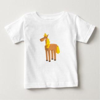 Camiseta Para Bebê Desenho do cavalo do brinquedo isolado no fundo
