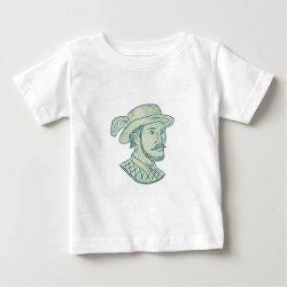 Camiseta Para Bebê Desenho do explorador de Juan Ponce de Leon
