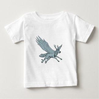 Camiseta Para Bebê Desenho do lado do vôo de Peryton