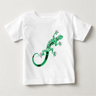 Camiseta Para Bebê Desenho do lagarto verde