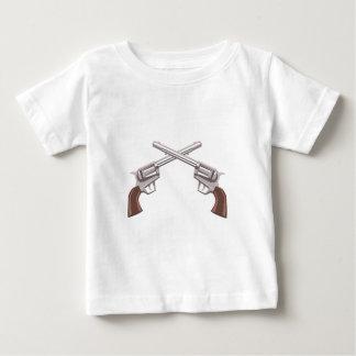 Camiseta Para Bebê Desenho do revólver da pistola isolado em