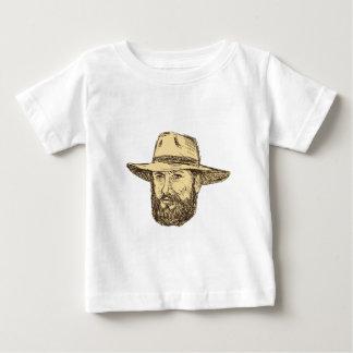 Camiseta Para Bebê Desenho farpado da cabeça do vaqueiro